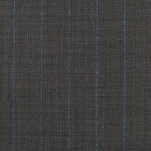 charcoal grey blue striped fabric