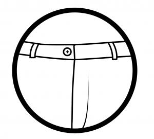 With belt loops