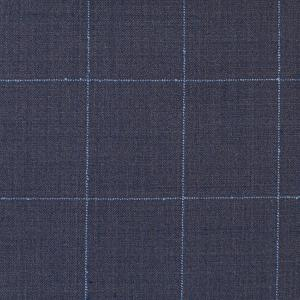 CHARCOAL AND LIGHT BLUE CHECKED SUIT