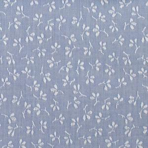 LIGHT BLUE FLOWERED FABRIC